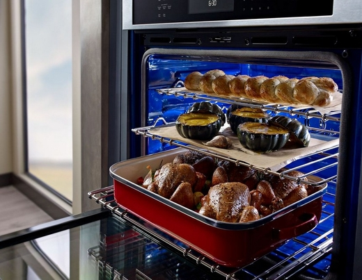 """KOSE500ESS KitchenAid 30"""" Single Wall Oven with Even-Heat True Convection - Stainless Steel"""