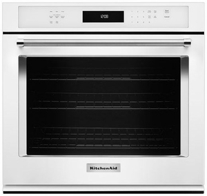 "KOSE500EWH KitchenAid 30"" Single Wall Oven with Even-Heat True Convection - White"