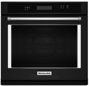 """KOSE507EBL KitchenAid 4.3 Cu. Ft. 27"""" Single Wall Oven with Even-Heat True Convection - Black"""