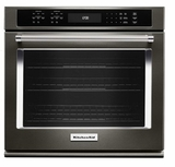 """KOSE507EBS KitchenAid 4.3 Cu. Ft. 27"""" Single Wall Oven with Even-Heat True Convection - Black Stainless Steel"""