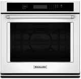 """KOSE507EWH KitchenAid 4.3 Cu. Ft. 27"""" Single Wall Oven with Even-Heat True Convection - White"""