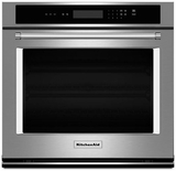 """KOST100ESS KitchenAid 5.0 Cu. Ft. 30"""" Single Wall Oven with Even-Heat Thermal Bake/Broil - Stainless Steel"""