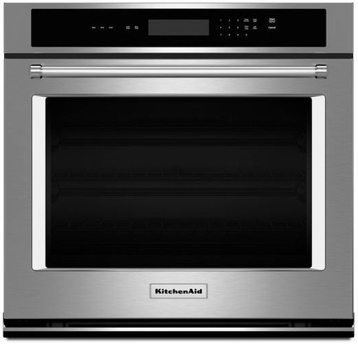 "KOST107ESS KitchenAid 4.3 Cu Ft. 27"" Single Wall Oven with Even-Heat Thermal Bake/Broil"