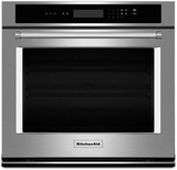 """KOST107ESS KitchenAid 4.3 Cu Ft. 27"""" Single Wall Oven with Even-Heat Thermal Bake/Broil"""