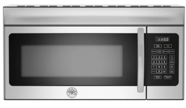 """KOTR30X Bertazzoni Professional Series 30"""" Over The Range Microwave with 300 CFM and 10 Power Levels  - Stainless Steel"""