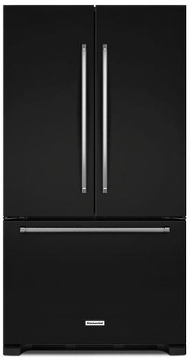 "KRFC300EBL KitchenAid 20 cu.ft. 36"" Width Counter Depth French Door Refrigerator with Interior Dispense - Black"