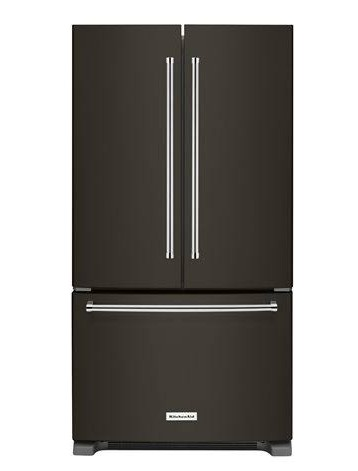 "KRFC300EBS KitchenAid 20 cu.ft. 36"" Width Counter-Depth French Door Refrigerator with Interior Dispense - Black Stainless Steel"