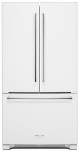 "KRFC300EWH KitchenAid 20 cu.ft. 36"" Width Counter Depth French Door Refrigerator with Interior Dispense - White"