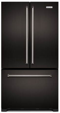 "KRFC302EBS KitchenAid  36"" Width Counter Depth French Door Refrigerator with Interior Dispense - Black Stainless Steel"