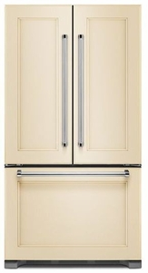 "KRFC302EPA KitchenAid 22 Cu.Ft. 36"" Width Counter Depth French Door Refrigerator with Interior Dispenser - Custom Panel"