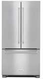 KRFC302ESS KitchenAid 22 Cu.Ft. 36-Inch Width Counter Depth French Door Refrigerator with Interior Dispenser - Stainless Steel