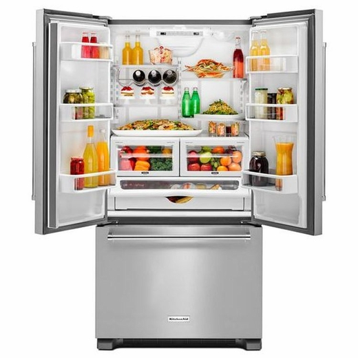 Exceptionnel KRFC302ESS KitchenAid 22 Cu.Ft. 36 Inch Width Counter Depth French Door  Refrigerator With Interior Dispenser   Stainless Steel