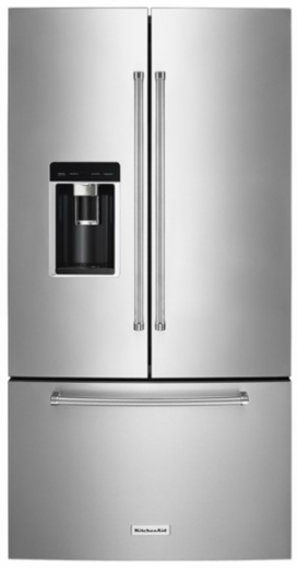 "KRFC604FSS KitchenAid 36"" 23.8 cu. ft. Counter-Depth French Door Refrigerator with LED Interior Lighting  and Automatic Ice Maker - Stainless Steel"