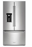 "KRFC704FPS 36"" KitchenAid 23.8 cu.ft. Counter Depth French Door Refrigerator with Panoramic LED Lighting and FreshSeal Herb Storage - PrintShield Stainless Steel"