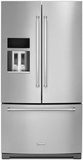 "KRFF707ESS KitchenAid 26.8 cu.ft. 36"" Width Standard Depth French Door Refrigerator with Exterior Ice & Water - Stainless Steel"