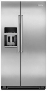 KRSC500ESS KitchenAid 20 Cu. Ft. Counter Depth Side-by-Side Refrigerator with Exterior Ice and Water - Stainless Steel