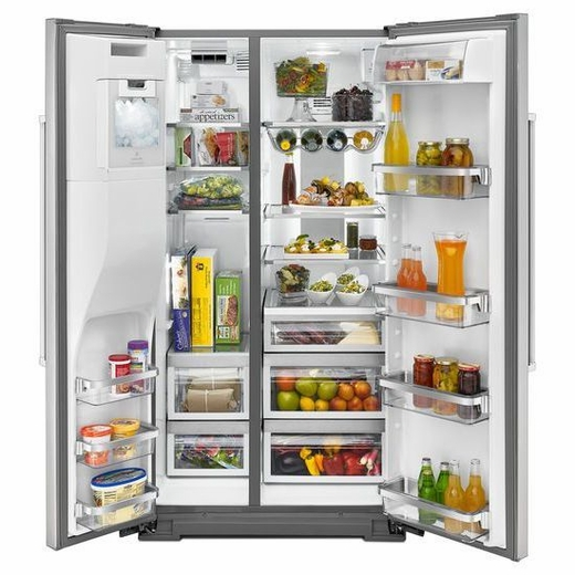 Kitchenaid Refrigerator Side By Side kitchenaid 24.8 cu. ft. standard depth side-by-side refrigerator