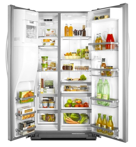 KSC23C8EYY KitchenAid 23 cu. ft. Side by Side Counter Depth Refrigerator - Monochromatic Stainless