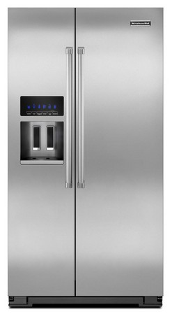 KSC24C8EYP KitchenAid 24 cu. ft. Side by Side Counter Depth Refrigerator - Stainless Steel