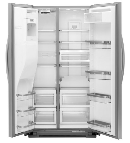 KSC24C8EYY KitchenAid 24 Cu. Ft. Side By Side Counter Depth Refrigerator    Monochromatic Stainless