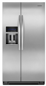 KSF26C4XYY KitchenAid 26 cu. ft. Standard Depth Side by Side Refrigerator with Dispenser - Monochromatic Stainless