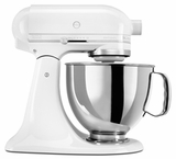 KSM150PSWW KitchenAid Artisan Series 5 QT. Stand Mixer - White on White