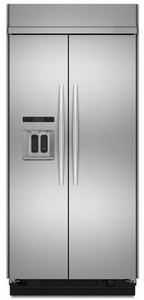 "KSSC48QVS KitchenAid Architect 48"" Built-in Dispenser Refrigerator - Stainless"