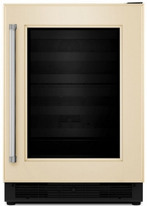 "KUBR204EPA KitchenAid 24"" Beverage Center with UV-Protected Thermal Glass Door - Right Hinge - Custom Panel"