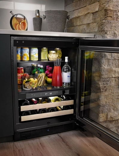 Kitchenaid 24 beverage center with glass door and wood front racks kubr204esb kitchenaid 24 beverage center with glass door and wood front racks right hinge stainless steel planetlyrics Image collections