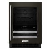 "KUBR304EBS KitchenAid 24"" Beverage Center with SatinGlide Metal Front Racks and Touch Controls - Right Hinge - Black Stainless Steel"