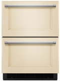 "KUDR204EPA KitchenAid 24"" Double Refrigerator Drawer with touch Controls - Custom Panel"