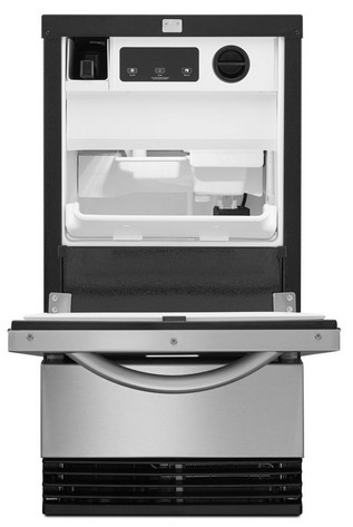 "KUIC18NNZS KitchenAid Architect 18"" - 50lb Clear Icemaker - Stainless"