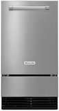 "KUID508ESS KitchenAid 18"" Automatic Icemaker with Clear Ice Technology Factory Installed Drain Pump - Stainless Steel"
