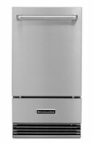 "KUIO18NNZS KitchenAid 18"" Outdoor Automatic Ice Maker with Clear Ice Technology and Integrated Filter - Stainless Steel"