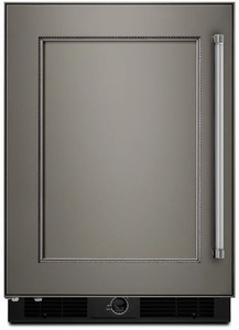 "KURL104EPA KitchenAid 24"" Undercounter Refrigerator with Glass Shelves - Left Hinge - Custom Panel"