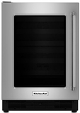 "KURL204ESB KitchenAid 24"" Undercounter Refrigerator with UV Protected Glass Door - Left Hinge - Stainless Steel"