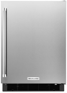 """KURR104ESB KitchenAid 24"""" Undercounter Refrigerator with Glass Shelves - Right Hinge - Stainless Steel"""