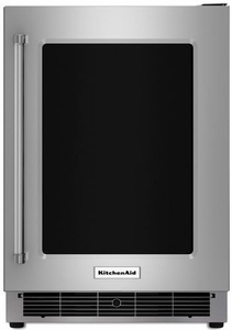 "KURR304ESS KitchenAid 24"" Undercounter Refrigerator with Glass Door and Metal Trim Shelves - Right Hinge - Stainless Steel"
