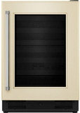 "KUWR204EPA KitchenAid 24"" Wine Cellar with Glass Door and Wood-Front Racks - Right Hinge - Custom Panel"
