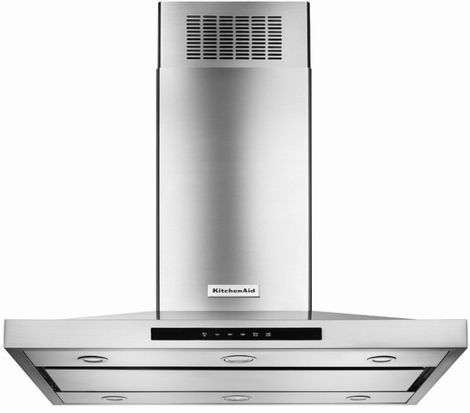 KVIB606DSS KitchenAid 36'' Island-Mount 3-Speed Canopy Hood (600 CFM) - Stainless Steel