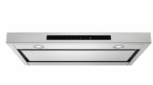 KVUB400GSS KitchenAid 30'' Low Profile Under-Cabinet Ventilation Hood with 400 CFM and Perimeter Ventilation - Stainless Steel