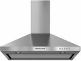 KVWB400DSS KitchenAid 30'' Wall-Mount 3-Speed Canopy Hood with 400 CFM Blower - Stainless Steel