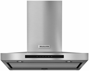 KVWB600DSS KitchenAid 30'' Wall-Mount 3-Speed Canopy Hood with 600 CFM Blower - Stainless Steel