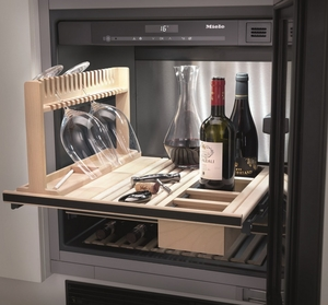 "KWT6312UGS Miele 24"" Undercounter Wine Refrigerator with Sommelier Set - Stainless Steel"