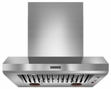 "KXW9736YSS KitchenAid Commercial Style 36"" Wall Mount Canopy Hood - Stainless Steel"