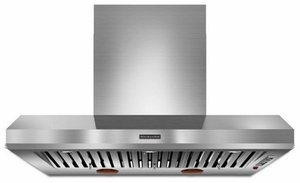 """KXW9748YSS KitchenAid Commercial Style 48"""" Wall Mount Canopy Hood - Stainless Steel"""