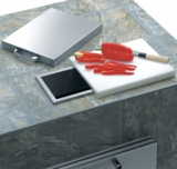 L18TS Lynx Countertop Trash Chute with Cutting Board & Cover