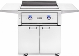 "L30AGFLP Lynx 30"" Asado Series Freestanding Liquid Propane Freestanding Grill with Two ProSear 2 Burners and Blue LED Lights - Stainless"