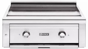 "L30AGNG Lynx 30"" Professional Asado Series Built-In Natural Gas Grill with Two ProSear 2 Burners and Blue LED Lights - Stainless Steel"