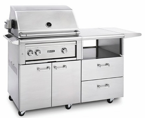 """L30TRMNG Lynx 30"""" Freestanding Grill with One Trident Burner and Rotisserie - Natural Gas - Stainless Steel"""